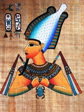 pintura-egipcia-oleo-spapiro-osiris