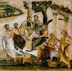 A Academia de Platão (mosaico, séc. I)