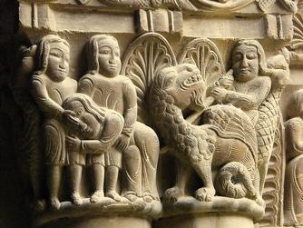 Huesca san Pedro el Viejo capitel