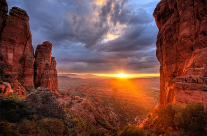 closed sunset