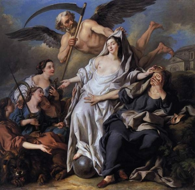 Jean-François de Troy, An Allegory of Time Unveiling Truth, 1733_
