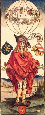 Durero-Ulsenius, Profecía médica. El sifilítico ejemplifica la serie de males derivados de la conjunción planetaria de 1484.