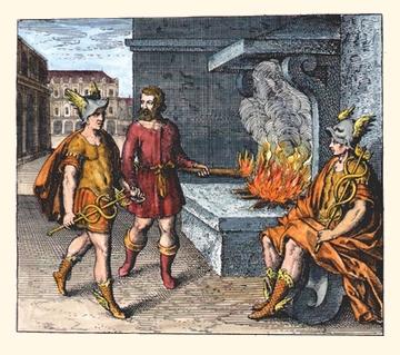 Atalanta fugiens 1617 Emblem 10