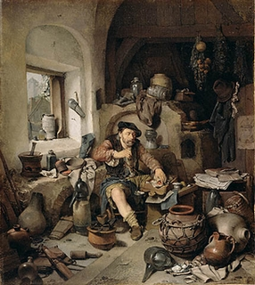 Cornelis_Pietersz__Bega_-_De_Alchemist_