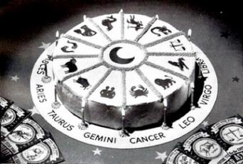 vintage astrology zodiac cake_