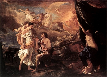 El Mito de Selene y Endimión de Nicolás Poussin 1594-1665_