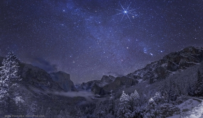 Yosemite Winter Night