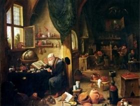Laboratório Alquimico, David Teniers, século XVII