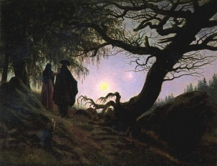 Man-and-Woman-Contemplating-the-Moon-1835_Caspar David Friedrich
