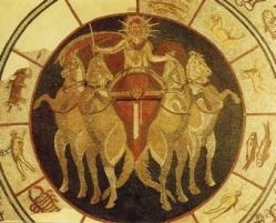mosaiksonnengott_rekonstruktion_Das Mosaik des unbesiegbaren Sonnengottes, Sol Invictus