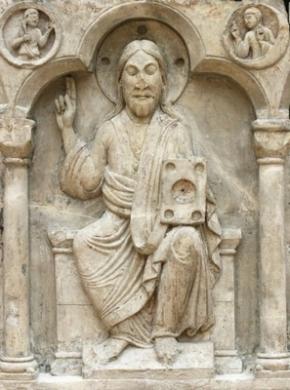 rheinisches-landesmuseum-bonn-gustorf-choir-screen-c1150-christ-majesty