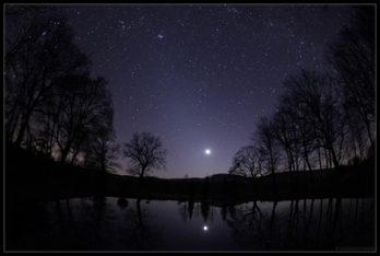 Crescent Moon and Zodiacal Light_