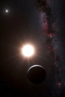 Artist's impression of the planet around Alpha Centauri B