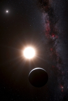 Artist's impression of the planet around Alpha Centauri B