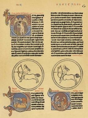 Folio del Lapidario (c. 1250) de Alfonso X el Sabio donde aparece la palabra formiga_Ms. h.I.15 de la Biblioteca de El Escorial