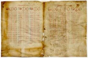 Tablas astronómicas (Siglos XIV-XV) fol. 1v-2r