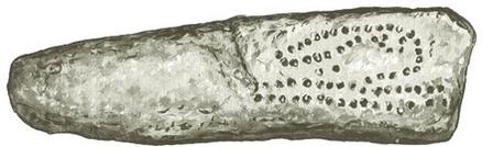 Um dos lados do osso de Abri Blanchart_ Alexander Marshack_ traçado rítmico das inscrições seria um registro das fases da lua