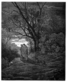 Gustave Doré's illustration to Dante's Inferno. Plate IV_Canto I