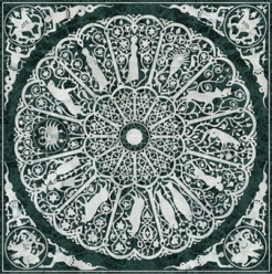 Marble floor, 9th ca. zodiac_lapide