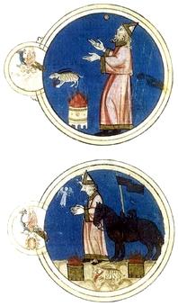 Sacrificios a Mercurio en Géminis y Marte. Libro de astromagia. Biblioteca Vaticana