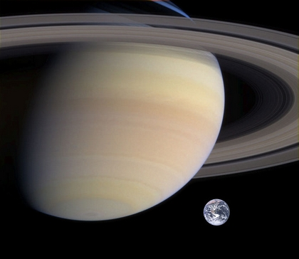 Saturn and Earth