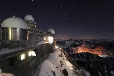 Winter Night at Pic du Midi