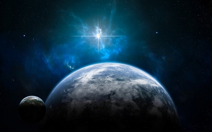 Space_Planets_and_a_shining_star