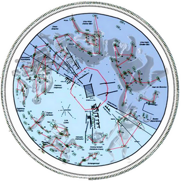 General plan of the early Celtic burial mound with sky constellations.