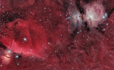 Horsehead and Orion Nebulas