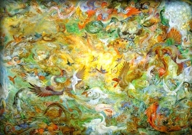 The Fifth Day of Creation by Mahmoud Farshchian