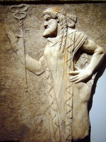 Archaistic style relief depicting Hermes