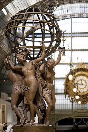 Las cuatro partes del mundo sosteniendo la esfera celeste
