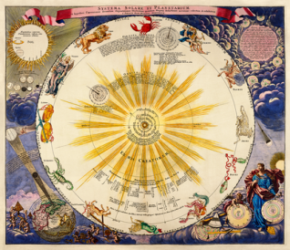 Celestrial Map Circa 1684