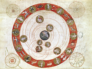 Phenomenon of Aratus Zodiac with the Movements of the Planets (Ms. 188 Fol. 30) Manuscripts Bibliotheque Municipale, Boulogne-Sur-Mer, France