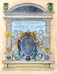 Engraved title from John Dee, Monas hieroglyphica,