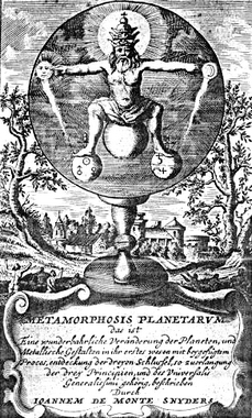 Frontispiece from Monte-Snyders Metamorpohosis planetarum, 1663