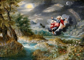 Jan Brueghel God Creating the Sun, the Moon and the Stars in the Firmament, C.1650 (2)