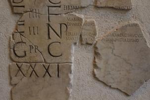 Roman calendar (Fasti Praenestini) from 6-10 AD