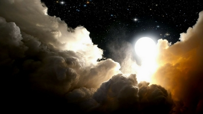 Moon Shine Through The Clouds