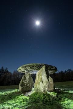 Spinster's Rock - a solitary dolmen near the Devonshire town of Drewsteignton, England.