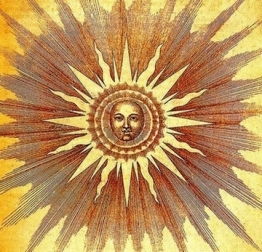 The Sun, Robert Fludd from Utriusque Cosmi (1617),v. 2, p. 19.