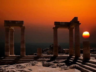 Athens sunset ajb