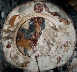 greece church of aghios ioannis zodiac fresco