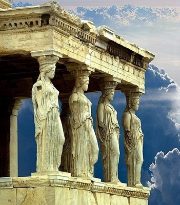 Porch-Of-The-Caryatids--Athens--Greece-