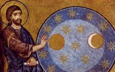 Creazione dell'universo, mosaico della Cappella Palatina, Palermo, XII sec.