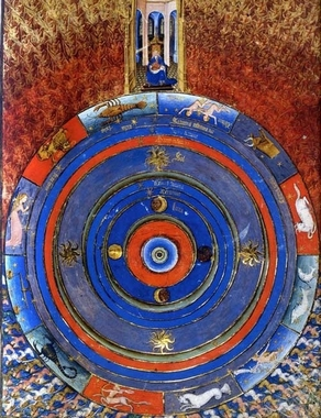 God Enthroned at the Summit of the Cosmos - Bible illustrated by the Master of Evert Zoudenbalch, Dutch (Utrecht), circa 1460