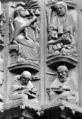 nb_sculpture_unknown_french_xii_chartres_cathedral_portal_statuettes
