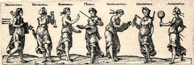 The Seven Liberal Arts, Print made by Dietrich Meyer (1572-1658)