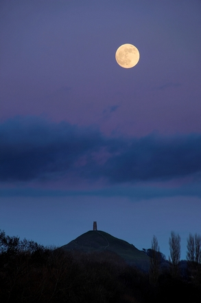 Glastonbury Tor Moon