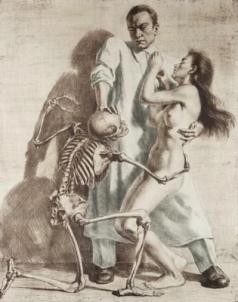 Arzt, Tod und Mädchen , ca. 1920
